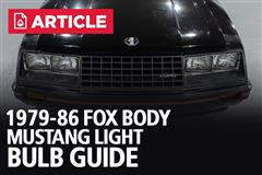 1979-86 Fox Body Mustang Light Bulb Guide