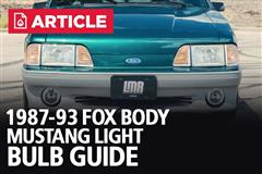 1987-93 Fox Body Mustang Light Bulb Guide