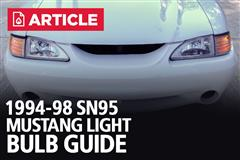 1994-98 Mustang Light Bulb Guide