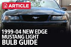 1999-04 Mustang Light Bulb Guide