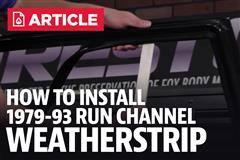 How To Install Mustang Run Channel Weatherstrip (79-93)