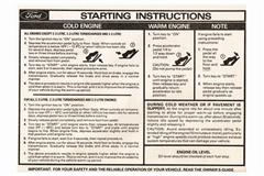 Mustang Sun Visor Instruction Sleeves