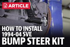 How To Install Mustang SVE Bump Steer Kit (94-04)