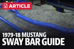 Mustang Sway Bar Size Guide
