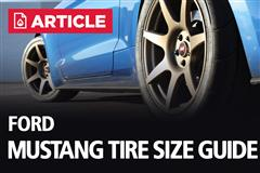 Ford Mustang Tire Size Guide