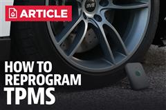 How To Reprogram Mustang TPMS