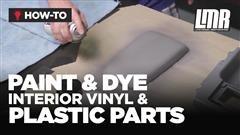 How To Paint & Dye Interior Mustang Parts