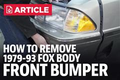How To Remove Fox Body Front Bumper