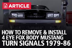 How To Remove & Install 4 Eye Fox Body Mustang Turn Signals (79-86)