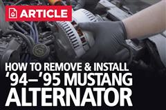 How To Remove & Install Alternator | 94-95 Mustang
