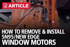 How To Remove/Install New Edge Mustang Window Motors | 99-04