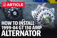 How To Install Mustang Alternator (1994-2004)