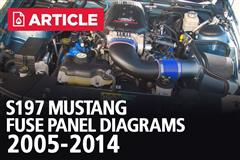 S197 Mustang Fuse Panel Diagrams | 2005-2014