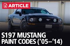 S197 Mustang Paint Codes | 2005-14