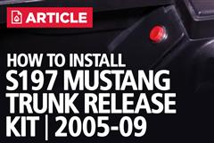 S197 Mustang Trunk Release Kit Installation (2005-09)