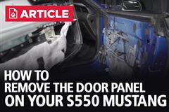 How To Remove S550 Mustang Door Panel
