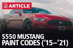 S550 Mustang Paint Codes | 2015-21