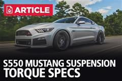 S550 Suspension Torque Specs
