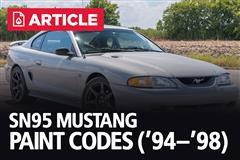 SN95 Mustang Paint Codes | 1994-98