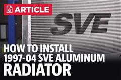 How To Install Mustang Aluminum Radiator - SVE (97-04)