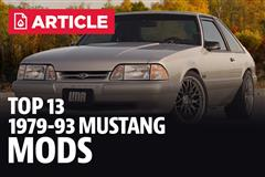 Top 13 Fox Body Mustang Mods