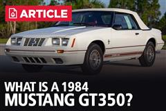 What Is A 1984 Mustang GT350?