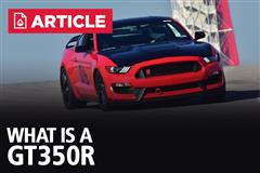What Is A GT350R?