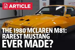 What Is The Mustang McLaren M81?